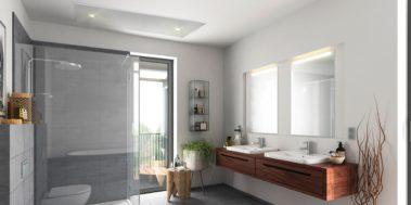 infrarood verwarming in badkamer met verlichting