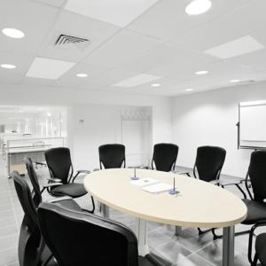infraroodpaneel systeemplafond kantoor verwarming