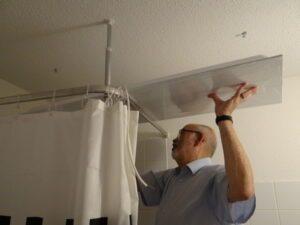 badkamerverwarmingspaneel - plaats paneel