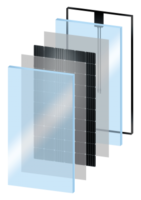Illustratie glas-glas 3D